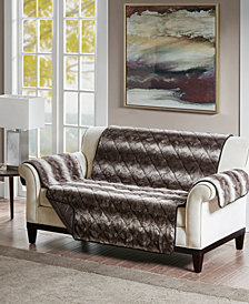 Madison Park Zuri Reversible Tip-Dyed Faux-Fur Loveseat Protector