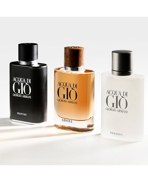 Giorgio Armani Acqua Di Giò Pour Homme Eau De Toilette Collection