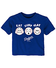 Outerstuff Los Angeles Dodgers Eat, Sleep, Play T-Shirt, Infant Boys (12-24 Boys)
