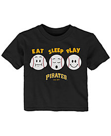 Outerstuff Pittsburgh Pirates Eat, Sleep, Play T-Shirt, Infant Boys (12-24 Months)