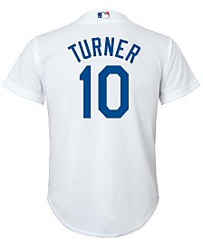 Majestic Justin Turner Los Angeles Dodgers Player Replica Cool Base Jersey, Big Boys (8-20)