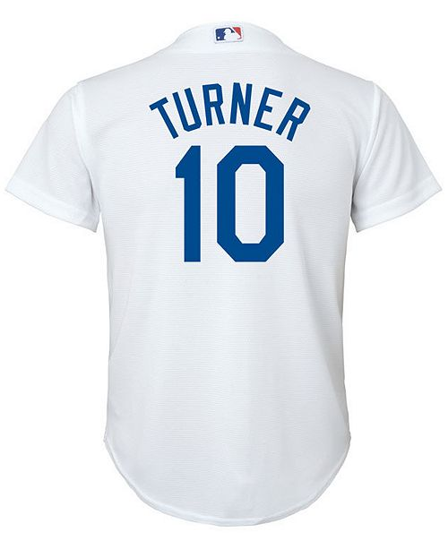 ed13d8dd4 Justin Turner Los Angeles Dodgers Player Replica Cool Base Jersey, Big Boys  (8-20)