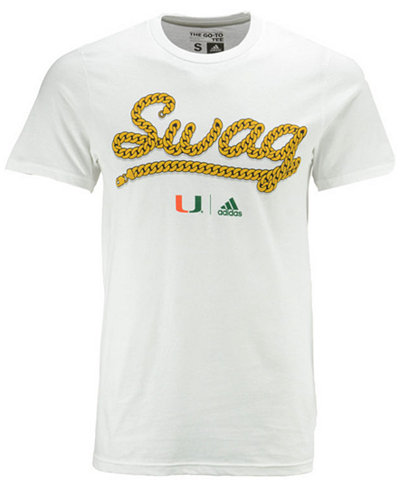 adidas Men's Miami Hurricanes Swag T-Shirt