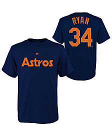 Majestic Nolan Ryan Houston Astros Official Player T-Shirt, Big Boys (8-20)