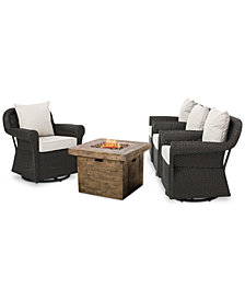 Dominique 5-Pc. Seating Set, Quick Ship