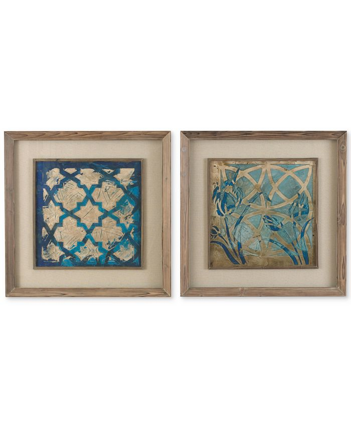 Uttermost - Stained Glass Indigo 2-Pc. Wall Art Set