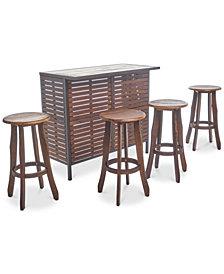 Whitman 5-Pc. Bar Set, Quick Ship