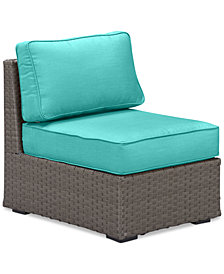 South Harbor Armless Unit Replacement Sunbrella® Cushion, Quick Ship