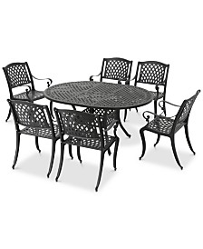 Maxwell 7-Pc. Outdoor Dining Set, Quick Ship