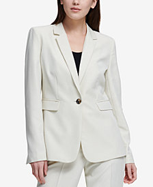 DKNY One-Button Seam-Front Jacket, Created for Macy's