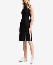 DKNY Side-Stripe Sheath Dress, Created for Macy's
