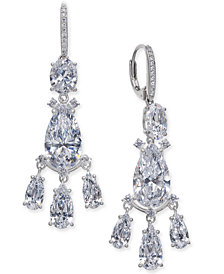 Danori Silver-Tone Crystal Chandelier Earrings, Created for Macy's