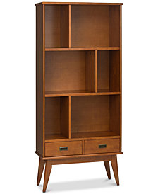Ednie Wide Bookcase, Quick Ship