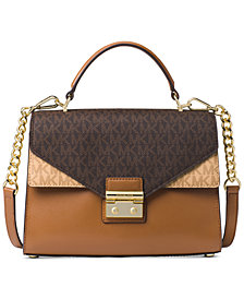 MICHAEL Michael Kors Sloan Signature Top Handle Medium Satchel