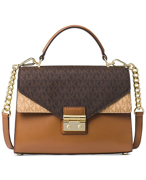 8bc09dffa6e9 Michael Kors Sloan Signature Top Handle Medium Satchel & Reviews ...