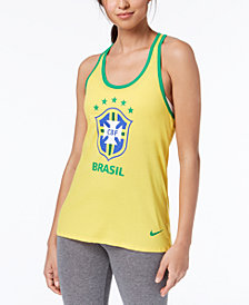 Nike Cotton Brazil Graphic Racerback Tank Top