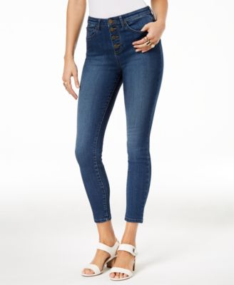 Button-Fly Skinny Jeans, Created for Macy's
