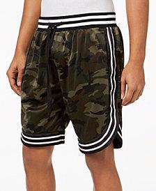 American Stitch Men's Satin Striped-Trim Shorts