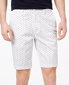 A|X Armani Exchange Men's Navy Ditsy Logo-Print Double-Knit Shorts
