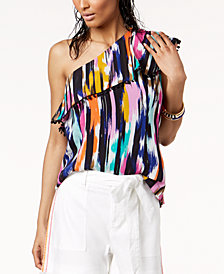 Trina Turk x I.N.C. One Shoulder Ruffle Top, Created for Macy's