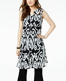 I.N.C. Printed Tunic Shirt, Created for Macy's