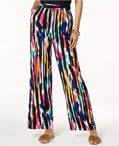 INC International Concepts Trina Turk x I.N.C. Ikat Printed Soft Pants, Created for Macy's