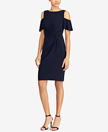 Lauren Ralph Lauren Cold-Shoulder Flutter-Sleeve Dress