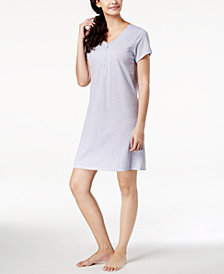 Charter Club Cotton Dotted Sleepshirt, Created for Macy's