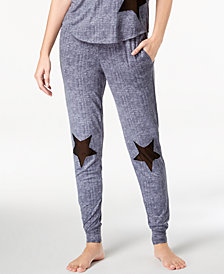 Ande Lush Luxe Mesh-Star Jogger Pajama Pants
