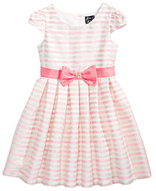 Pink & Violet Little Girls Striped Dress