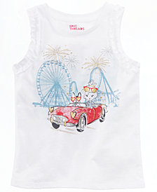 Epic Threads Little Girls Ruffle-Trim Graphic-Print Tank Top, Created for Macy's