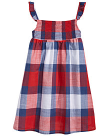 Epic Threads Cotton Flutter-Sleeve Plaid Dress, Toddler Girls, Created for Macy's