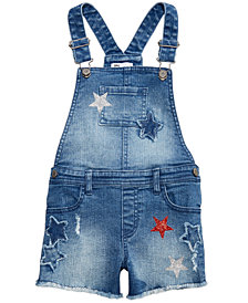 Epic Threads Toddler Girls Star Denim Short Overalls, Created for Macy's