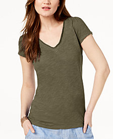 I.N.C. Cotton V-Neck T-Shirt, Created for Macy's