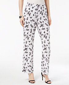 Vince Camuto Printed Wide-Leg Pants