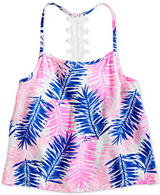 Epic Threads Big Girls Lace-Strap Leaf-Print Tank Top, Created for Macy's