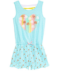 Epic Threads Big Girls Graphic-Print Romper, Created for Macy's