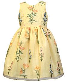 Jayne Copeland Floral Embroidered Dress, Little Girls
