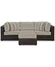 Viewport Outdoor 4-Pc. Modular Seating Set (2 Corner Units, 1 Armless Unit and 1 Ottoman), with Sunbrella® Cushions, Created for Macy's
