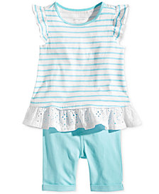 First Impressions Baby Girls Striped Tunic & Bermuda Shorts Set, Created for Macy's