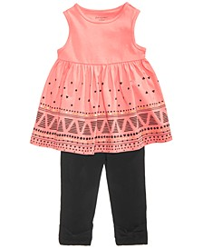 Baby Girls Printed Tunic & Leggings Separates, Created for Macy's