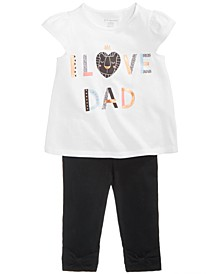 Baby Girls Graphic-Print T-Shirt & Leggings Separates, Created for Macy's