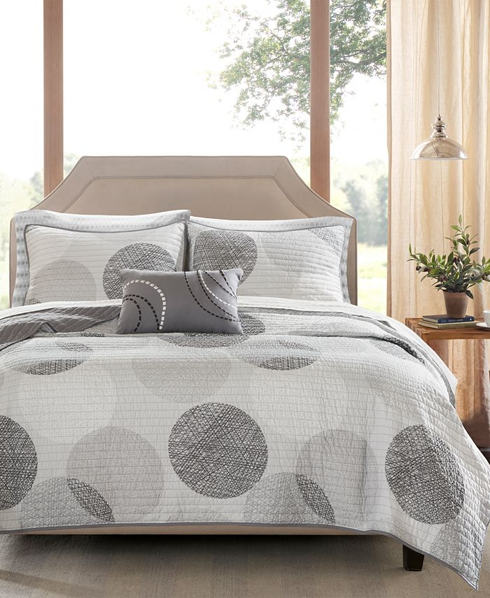Madison Park - Essentials Knowles 8-Pc. Queen Coverlet Set