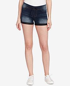Black Daisy Juniors' Pull-On Denim Shorts