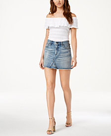 Citizens of Humanity Cotton Cutoff Denim Skirt