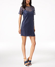 MICHAEL Michael Kors Embroidered Mesh Dress, Regular & Petite