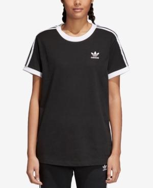 ae9ff3d6ea ... Women's T UPC 190311344785 product image for adidas Originals adicolor  Cotton Three-Stripes T-Shirt