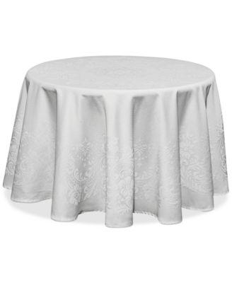 """Celeste White 70"""" Round Tablecloth"""