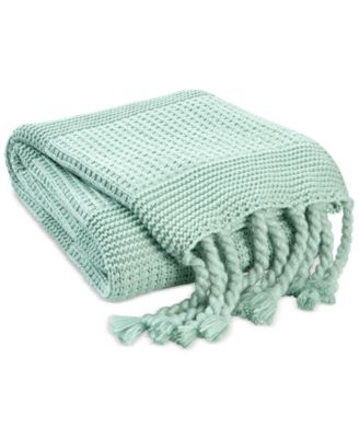 CLOSEOUT! Multi-Knit Tassel Throw, Created for Macy's