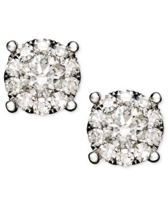 This Item Is Part Of The Diamond Circle Stud Earrings In 14k White Gold